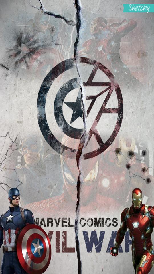 Civil War Phone Wallpaper By IMrSketchy