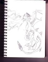 Dark Spyro Sketch by Igarax