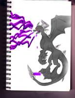 Dark Spyro Sketch Colored by Igarax