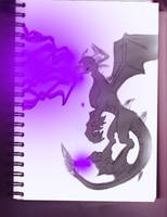 Dark Spyro Sketch Done by Igarax