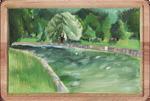 Landscape With Tempera Paints