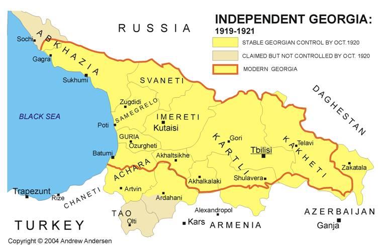 Georgia By VahVah On DeviantArt - Georgia map 1921