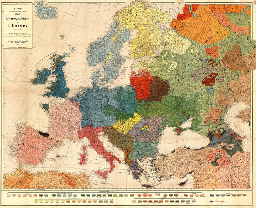 Ethno Linguistic Map Of Europe In The Early 20th By Vah Vah ...