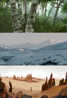 Landscapes Speed paints by The-Ronin-Artist
