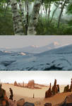 Landscapes Speed paints