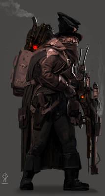 Steampunk Warrior Sketch