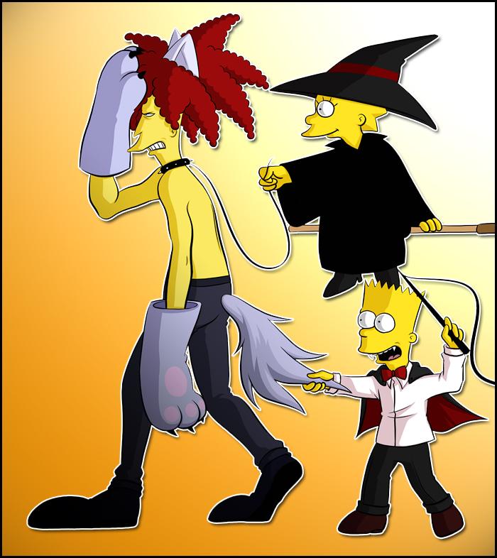 Sideshow Bob, Bart, Lisa by Matsuri1128
