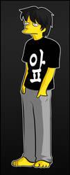 My self-portrait in Simpsons Style by Matsuri1128