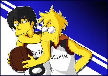 Mitobe in Simpson and Bart by Matsuri1128