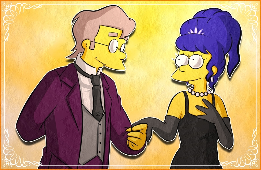 Smithers, Marge by Matsuri1128