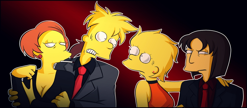 Bart, Edna, Lisa, Michael by Matsuri1128