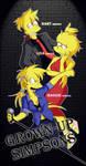 Grown Up Simpsons (Bart, Lisa, Maggie)