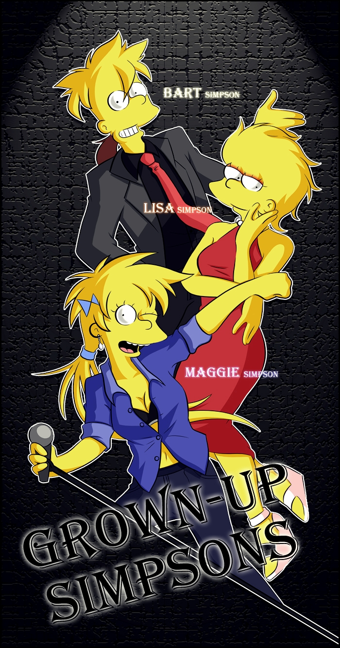 Grown Up Simpsons (Bart, Lisa, Maggie) by Matsuri1128
