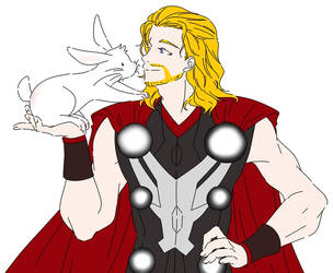 Thor n Rabbit by Matsuri1128