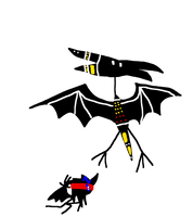 Rodan Cave Painting (1998) by JagiTheCosmicHero