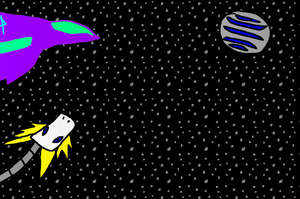 Aura vs the robosphere (1998) by JagiTheCosmicHero