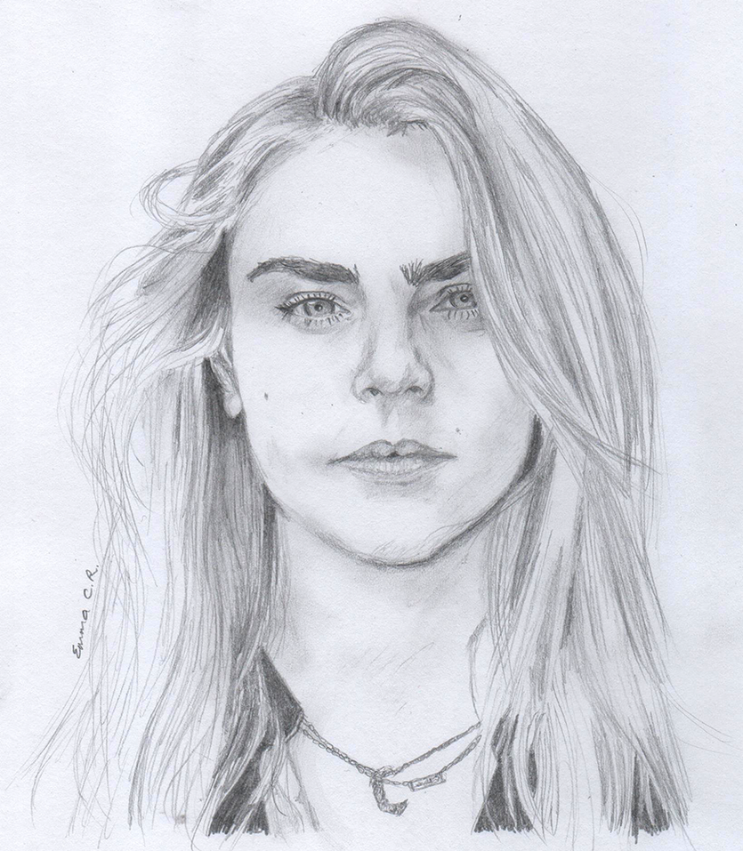 Sketch: Cara Delevingne by IslandWriter