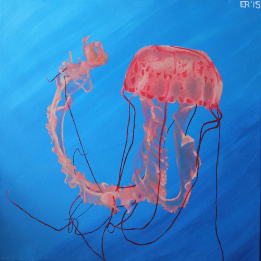 Jellyfish Painting by IslandWriter