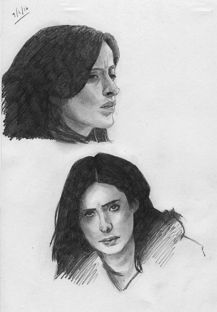 Sketches: Jessica Jones by IslandWriter