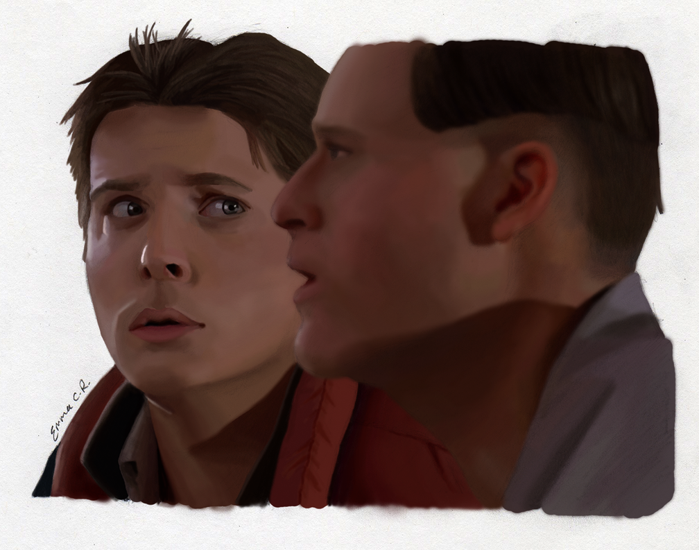 Marty and George McFly by IslandWriter