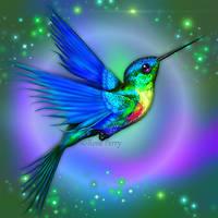 Hummingbird Blue by serafina-rose