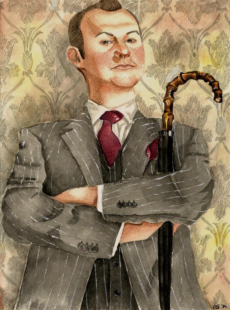 BBCs Mycroft Holmes  by Scarlett-Winter