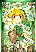 Stained Glass Link by Scarlett-Winter