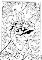 Stained Glass: King of Red Lions (Outlines) by Scarlett-Winter
