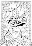 Stained Glass: King of Red Lions (Outlines)