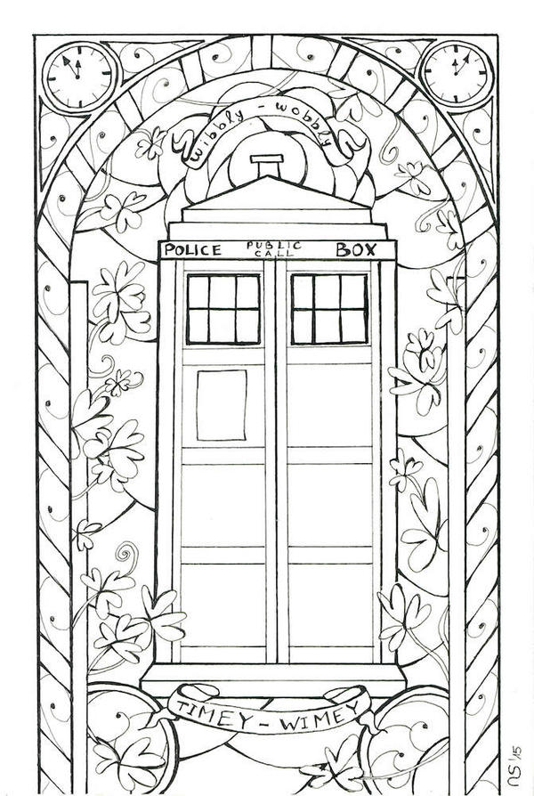 tardis coloring pages - photo#4