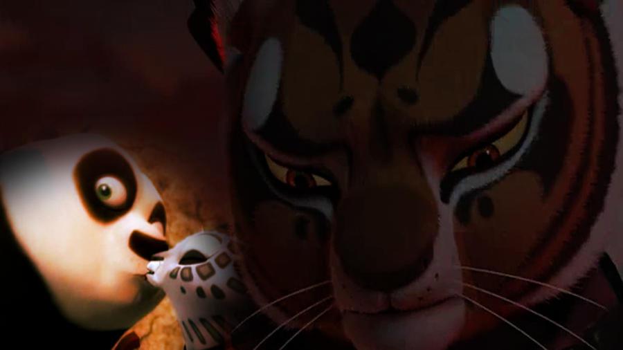 Tigress is sadface Po X Song Kiss by KFPMasterTigress