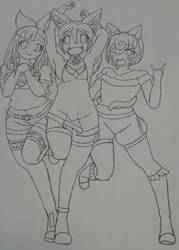 Melody, Dawn, and Lemon
