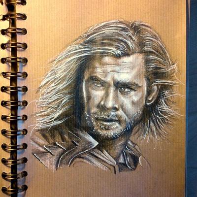 Thor Portrait by aaronbakerart