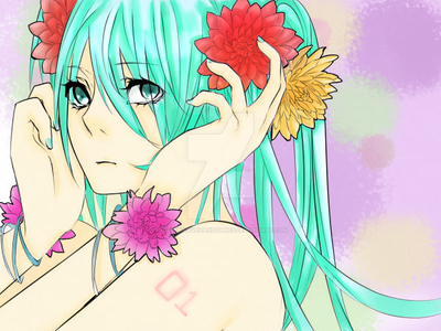 Hatsune Miku Lineart Colour by AlternativeRandomnes