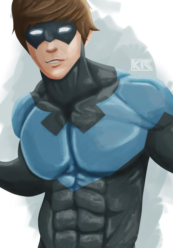 Nightwing WIP by Mercalicious
