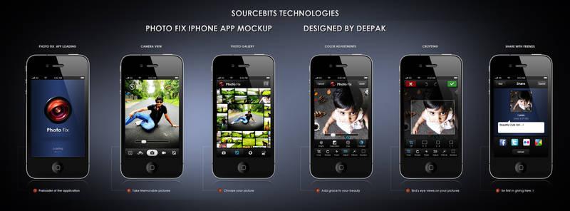 iPhone Photo App Interface