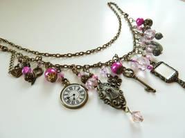 Fantasy Steampunk Charm Bracelet or Necklace by glowdragon270