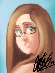 Portrait of a girl with glasses by quitin9712