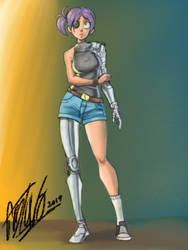 Cyborg lady by quitin9712