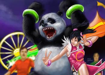 Ling Xioyu and Panda by sykoeent