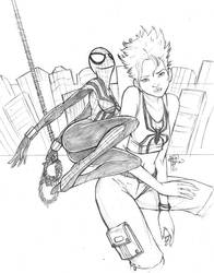 SpiderGirl Pencil by sykoeent