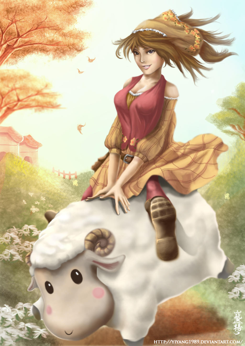 Lunar New Year 2015 - Harvest Moon Fanart by yiyang1989