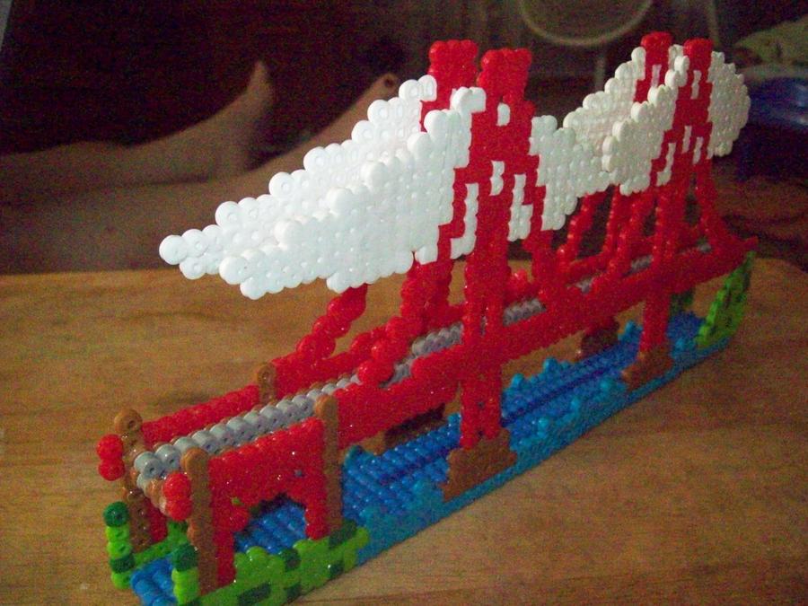 Golden Gate Bridge Bead Model by elphieofkiamoko