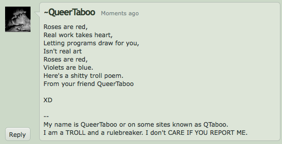 They See Me Trollin by QueerTaboo