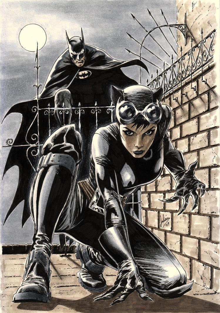 Catwoman featuring Bats by julianlopezart