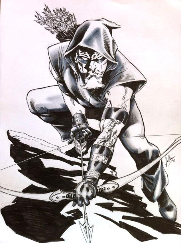 Commission: Green Arrow by julianlopezart