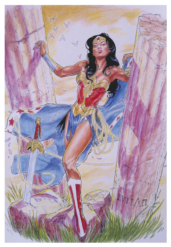 Wonder Woman Color Commission by julianlopezart