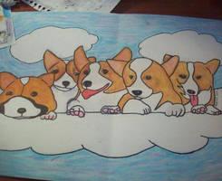 Corgies in the Sky by AsuchiiMeowMeow