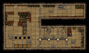 DND mansion map - Basement