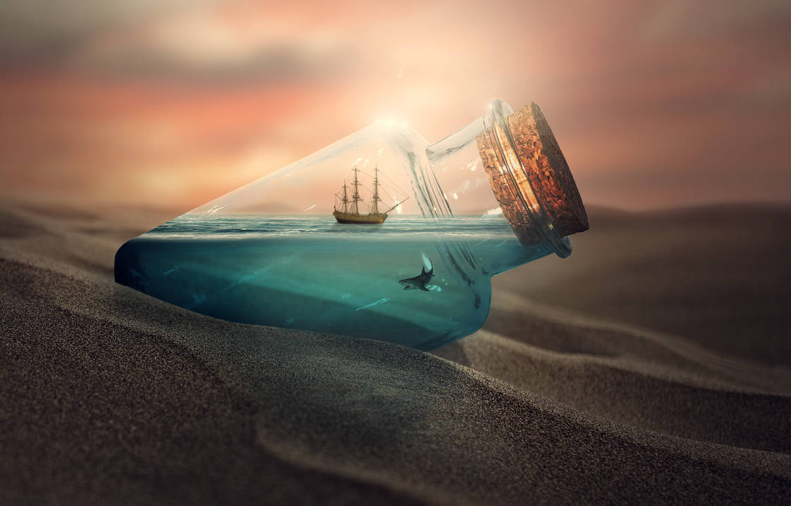 Ship in the bottle by crissouza